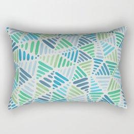 Aqua Triangle Pattern Rectangular Pillow