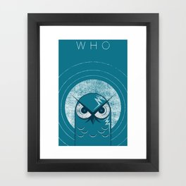 WHO Framed Art Print