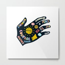 Positivity – Helping Hand Metal Print