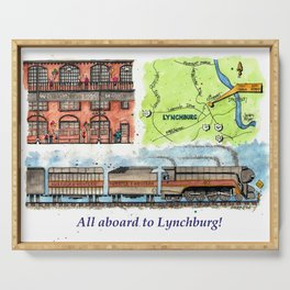 All Aboard to Lynchburg! Serving Tray
