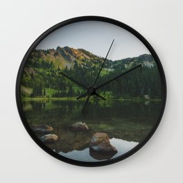 Sheep Lake - Pacific Crest Trail, Washington Wall Clock