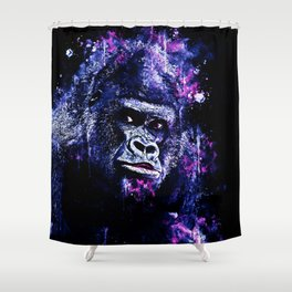 gorilla monkey face expression wscb Shower Curtain