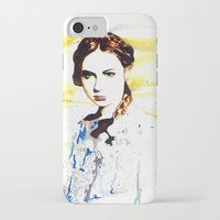 karen hallion iPhone & iPod Cases featuring Karen Gillan (Amy Pond) by TheJollyRambler
