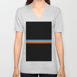 Retro Stripes 01 Unisex V-Neck