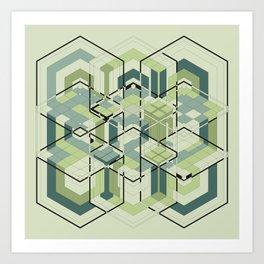 Hexagons #01 Art Print