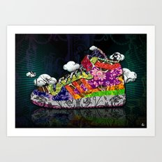 Horror Vacui - Baskets01 Art Print
