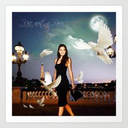 Une nuit à Paris (Paige Turco) Art Print