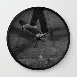 Riding Skateboard, A Wall Clock