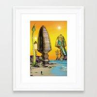 cityscape Framed Art Prints featuring Cityscape by Pierre-Paul Pariseau