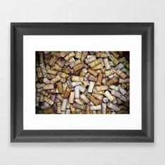 Fine Wine Corks Framed Art Print