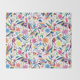 Creatures Otomi Throw Blanket