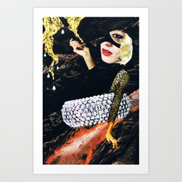 the river - collage Art Print