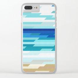 Geometic beach Clear iPhone Case
