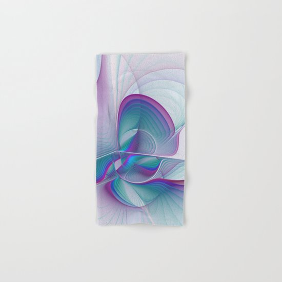 Colorful Beauty, Abstract Fractal Art Hand & Bath Towel