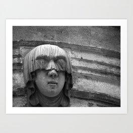 Veiled Shame Art Print