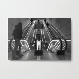 Copenhagen Metro escalators Metal Print
