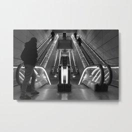 Copenhagen Metro escalators Metal Print