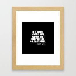 it is health Framed Art Print