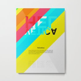 Helvetica | Types of People Metal Print