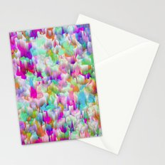 Neon Rain Stationery Cards