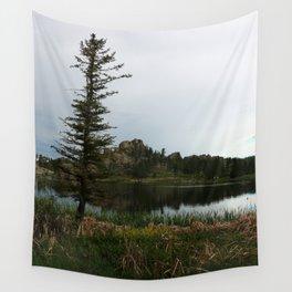 Moody Evening  At Sylvan Lake Wall Tapestry