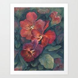 Pansies in the Twilight Art Print