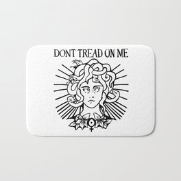 Medusa: Don't Tread On Me (White) Bath Mat