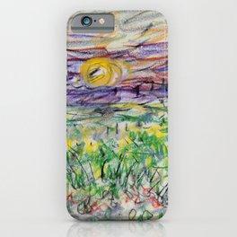 Kida Kinjiro - Falling Sun on the Field of Rape Blossoms II (1955) iPhone Case
