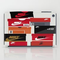 sneaker iPad Cases featuring SNEAKER HEAD RED by RickART