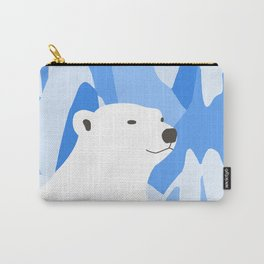 Polar Bear In The Cold Design Carry-All Pouch
