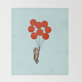 I Believe I Can Fly English Bulldog Throw Blanket