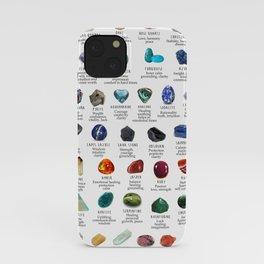 crystals gemstones identification iPhone Case