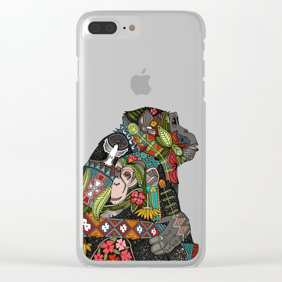chimpanzee love Clear iPhone Case
