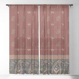 Garden Flowers Paisley - Christmas Decoration Sheer Curtain