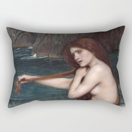 John William Waterhouse, Mermaid, 1900 Rectangular Pillow