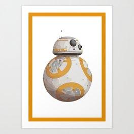 StarWars BB8 astromech droid Art Print