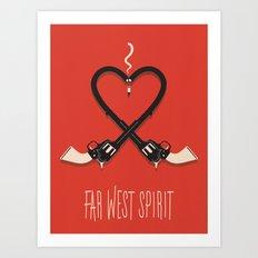 FAR WEST Art Print