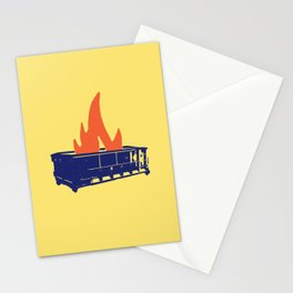 Good Riddance To This Dumpster Fire Of A Year 2017 Stationery Cards