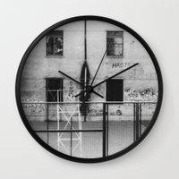 school Wall Clocks featuring School by Ibbanez