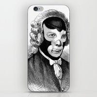 wrestling iPhone & iPod Skins featuring WRESTLING MASK 4 by DIVIDUS