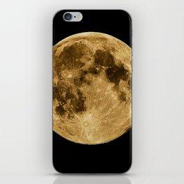 Full moon during night time iPhone Skin