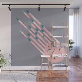 Like...Pink Meteors Wall Mural