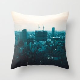 Osaka morning Throw Pillow