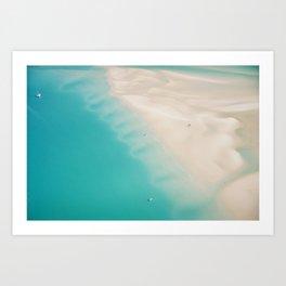 Teal Sands Art Print