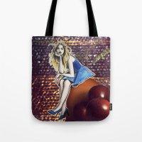 cara delevingne Tote Bags featuring Cara Delevingne by Creadoorm
