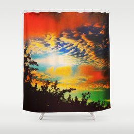 Popsicle Sky Shower Curtain
