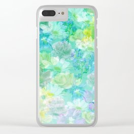 Enchanted Spring Floral Abstract Clear iPhone Case