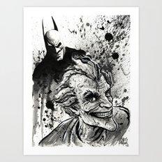 Joker: Arkham Smiles Art Print