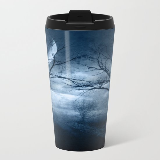 A Dark & Foggy Night Metal Travel Mug