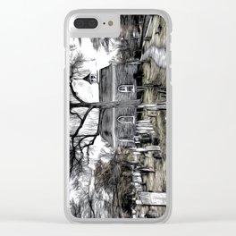 Sleepy Hollow Church Art Clear iPhone Case